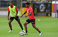 Evan N'Dicka (Eintracht Frankfurt) - 28.08.2018: Eintracht Frankfurt Training, Commerzbank Arena, DISCLAIMER: DFL regulations prohibit any use of photographs as image sequences and/or quasi-video.
