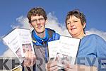 ON FILM: Kieran McAuliffe and Ellen Barrett with a DVD of the recent Knocknagoshel Harvest Festival.