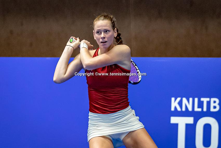 Alphen aan den Rijn, Netherlands, December 18, 2019, TV Nieuwe Sloot,  NK Tennis,Stephanie Vischer (NED<br /> Photo: www.tennisimages.com/Henk Koster