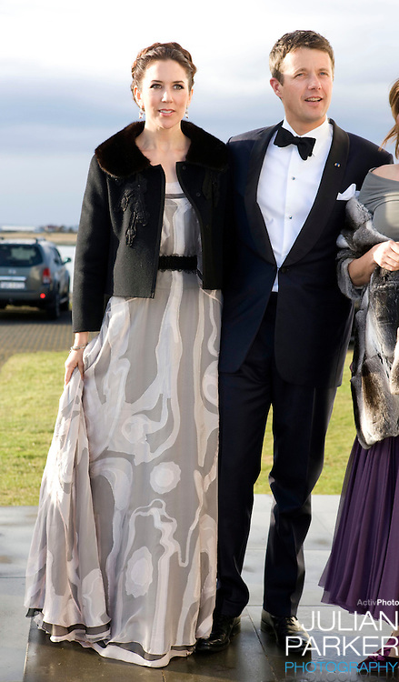 Crown Prince Frederick and Crown Princess Mary of Denmark begin a four day official visit to Iceland, arrive at The Presidents residence in Reykjavik for the Official Dinner, Hosted by The President of Iceland, Olafur Ragnar Grimsson, and his wife Dorrit Moussaieff