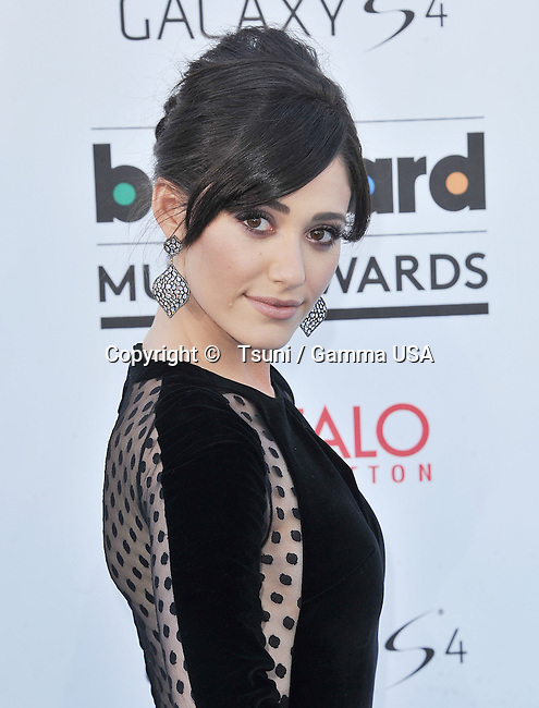 Emmy Rossum  at the Billboard Music Aw. 2013 at the MGM Grand In Las Vegas.