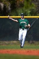 Dartmouth Big Green left fielder Matt Feinstein (23) throws the ball in during a game against the Eastern Michigan Eagles on February 25, 2017 at North Charlotte Regional Park in Port Charlotte, Florida.  Dartmouth defeated Eastern Michigan 8-4.  (Mike Janes/Four Seam Images)
