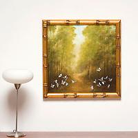 "Kroll: Path and Butterflies, Digital Print, Image Dims. 24"" x 24"", Framed Dims. 27.5"" x 27.5"""