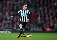 Javi Manquillo of Newcastle United during the Premier League match between Arsenal and Newcastle United at the Emirates Stadium, London, England on 16 December 2017. Photo by Vince  Mignott / PRiME Media Images.