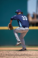Charlotte Stone Crabs relief pitcher Ian Gibaut (33) delivers a pitch during a game against the Bradenton Marauders on April 9, 2017 at LECOM Park in Bradenton, Florida.  Bradenton defeated Charlotte 5-0.  (Mike Janes/Four Seam Images)