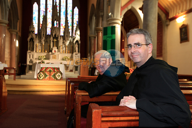 Fr Francis Aherne and Fr Colm O'Mahony at the Augustinian Church.<br /> <br /> Picture Fran Caffrey www.golffile.ie