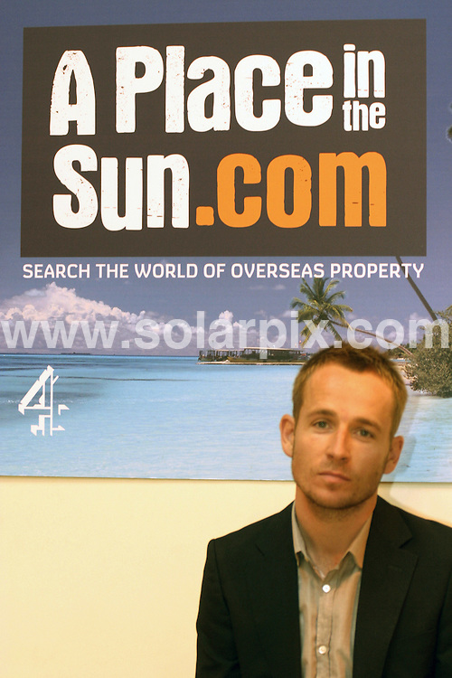 """**ALL ROUND PICTURES FROM SOLARPIX.COM**.**WORLDWIDE SYNDICATION RIGHTS**.Channel 4 TV's """"A Place in the Sun"""" exhibition at the NEC in Birmingham, UK. Saturday 27th September 2008..This pic: Johnny Irwin..JOB REF: 7482 NYA     DATE: 27_09_2008.**MUST CREDIT SOLARPIX.COM OR DOUBLE FEE WILL BE CHARGED* *UNDER NO CIRCUMSTANCES IS THIS IMAGE TO BE REPRODUCED FOR ANY ONLINE EDITION WITHOUT PRIOR PERMISSION*"""