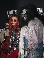 BUENA PARK, CA - SEPTEMBER 29: Bella Thorne, at Knott's Scary Farm & Instagram's Celebrity Night at Knott's Berry Farm in Buena Park, California on September 29, 2017. Credit: Faye Sadou/MediaPunch