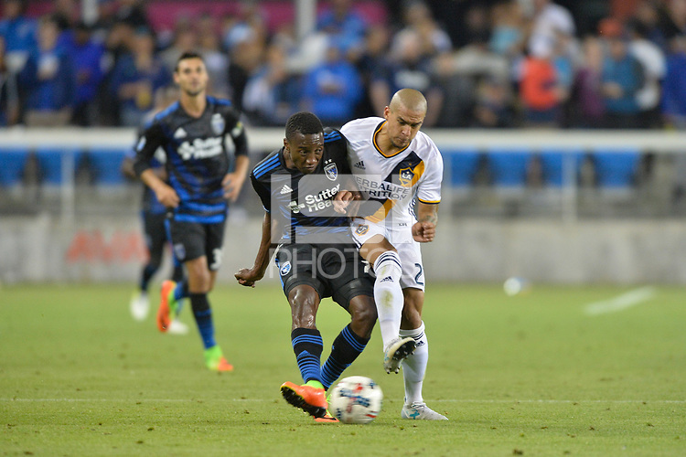 San Jose, CA - Monday July 10, 2017: Cordell Cato during a U.S. Open Cup quarterfinal match between the San Jose Earthquakes and the Los Angeles Galaxy at Avaya Stadium.