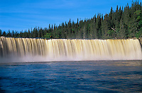 Kakisa River at Lady Evelyn Falls on the Waterfalls Route (Highway)  (Mackenzie Highway)<br /> Lady Evelyn Falls Territorial Park<br /> Northwest Territories<br /> Canada