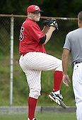 July 13, 2004:  Pitcher Taylor Tankersley of the Jamestown Jammers, Single-A NY-Penn League affiliate of the Florida Marlins, during a game at Russell Diethrick Park in Jamestown, NY.  Photo by:  Mike Janes/Four Seam Images