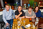 Brian McCarthy, Paul and Bridie Byrne and Angela O'Sullivan enjoying the evening in Benners Hotel on Saturday.