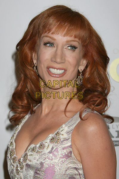 KATHY GRIFFIN.20th Annual Producers Guild Awards held at The Hollywood Palladium, Hollywood, California, USA..January 24th, 2009.headshot portrait pink white  .CAP/ADM/MJ.©Michael Jade/AdMedia/Capital Pictures.