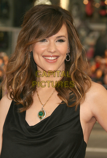 "JENNIFER GARNER.""Ghosts Of Girlfriends Past"" Los Angeles Premiere held at Grauman's Chinese Theatre,  Hollywood, CA, USA..April 27th, 2009.headshot portrait sleeveless cowel neck black gold green necklace .CAP/ADM/MJ.©Michael Jade/AdMedia/Capital Pictures."