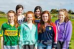 Enjoying the Gneeveguilla Carnival on Sunday were Emily O'Riordan, Fiona O'Rahilly, Aoife Hickey. back row: Brendan murphy, Lorna O'sullivan, and rebecca Tangney