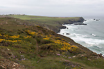 Stormy weather on the Lizard Peninsula coast, Cornwall, England, UK