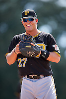 Pittsburgh Pirates first baseman John Bormann (27) during an Instructional League Intrasquad Black & Gold game on September 28, 2016 at Pirate City in Bradenton, Florida.  (Mike Janes/Four Seam Images)