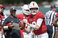 Stanford, CA - April 13, 2019: Jack Richardson during the Spring Football game at Cagan Stadium on Saturday.<br /> <br /> The Defense won 20-14.