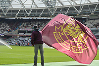 West Ham flags during West Ham United vs Everton, Premier League Football at The London Stadium on 13th May 2018
