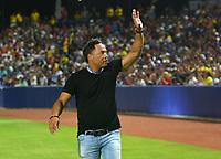 BARRANQUILLA-COLOMBIA- 31-05-2018: Sandy Alomar, beisbolista, durante la velada de apertura del estadio Edgar Renteria en la ciudad de Barranquilla, Colombia. / Sandy Alomar, baseball player, during the opening night of the Edgar Renteria stadium in Barranquilla city. Photo: VizzorImage / Alfonso Cervantes / Cont