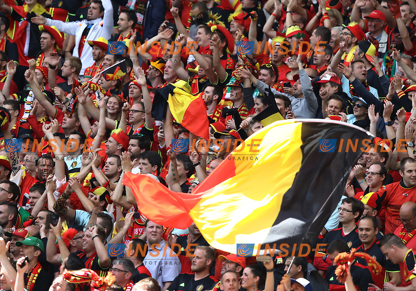 Belgium supporters in the stands. tifosi<br /> Bordeaux 18-06-2016 Nouveau Stade Footballl Euro2016 Belgium - Republic of Ireland  / Belgio - Irlanda Group Stage Group E. Foto Matteo Ciambelli / Insidefoto