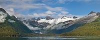 Passage Canal, Chugach National Forest, Chugach mountains, Prince William Sound, Alaska.