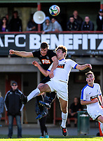 Action from the Chatham Cup second round Northern Football football match between Forrest Hill Milford United and Bay Olympic at Becroft Park in Forrest Hill, Auckland, New Zealand on Monday, 5 June 2017. Photo: Dave Lintott / lintottphoto.co.nz