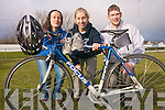 Calling on all athletes the Puck Warrior Duathlon takes place on March 6 and is open to everyone no matter what their fitness level and not only is the fun event a great way to get in shape but this year is also a fund-raiser for the victims of the Haiti earthquake. .L-R Bobby Fitzgerald, Aine Fitzgerald and Christopher Fitzgerald of A Fit Body gym in Killorglin who are behind the event. .