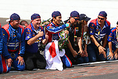 May 28th Indianapolis Speedway, Indiana, USA; The 101st Indianapolis 500 on May 28th, 2017 at the Indianapolis Motor Speedway in Indianapolis, IN. Winner #26 TAKUMA SATO (JPN) ANDRETTI AUTOSPORT (USA) HONDA on the brickyard line