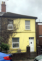 Pictured: The house where Leon Jenkins, 43 was living in Cardiff, Wales, UK who committed suicide after joining insult internet chat room paltalk.