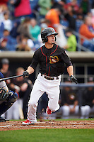 Quad Cities River Bandits second baseman Aaron Mizell (3) during a game against the Burlington Bees on May 9, 2016 at Modern Woodmen Park in Davenport, Iowa.  Quad Cities defeated Burlington 12-4.  (Mike Janes/Four Seam Images)