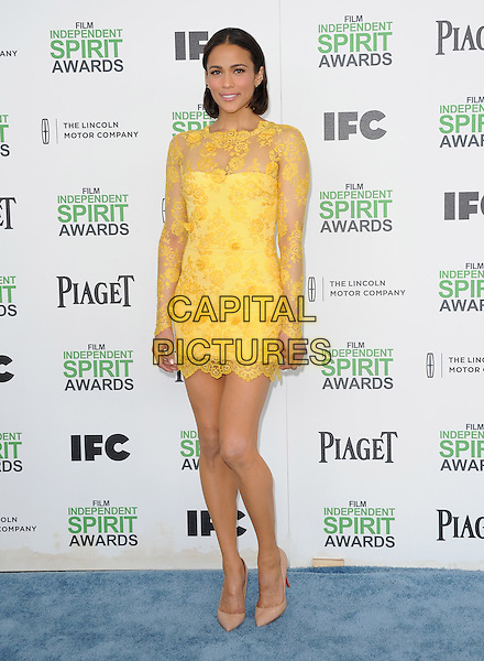 Paula Patton attends The 2014 Film Independent Spirit Awards held at Santa Monica Beach in Santa Monica, California on March 01,2014                                                                                <br /> CAP/DVS<br /> &copy;Debbie VanStory/Capital Pictures