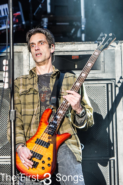 Johnny April of Staind performs during the 2014 Rock On The Range festival at Columbus Crew Stadium in Columbus, Ohio.