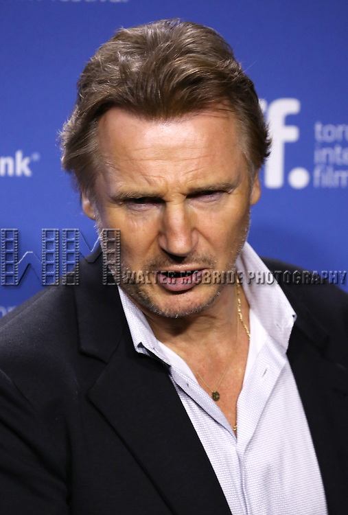 """Liam Neeson attending the 2013 Tiff Film Festival Photo Call for """"Third Person""""  at the Tiff Bell Lightbox on September 10, 2013 in Toronto, Canada."""