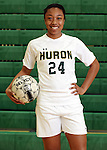 2013 Huron High School girl's varsity and JV soccer teams