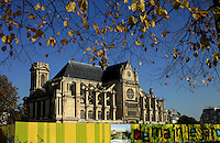 France, Paris, October 31, 2011..General view of Sant Eustache church in Paris October 31 , 2011. VIEWpress / Kena Betancur..Paris is today one of the world's leading business and cultural centres, and its influences in politics, education, entertainment, media, fashion, science, and the arts all contribute to its status as one of the world's major global cities. Media Reported.