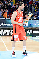 Valencia Basket's Rafa Martinez during Quarter Finals match of 2017 King's Cup at Fernando Buesa Arena in Vitoria, Spain. February 19, 2017. (ALTERPHOTOS/BorjaB.Hojas)