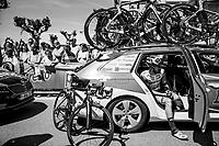 pre-stage relax moment for Nicola Boem (ITA/Bardiani-CSF)<br /> <br /> Stage 15: Valdengo &rsaquo; Bergamo (199km)<br /> 100th Giro d'Italia 2017