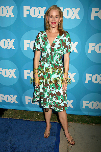 PENELOPE ANN MILLER.2006 FOX TCA Summer Party, Pasadena, California, USA. .July 25th, 2006.Photo: Byron Purvis/AdMedia/Capital Pictures.Ref: ADM/BP.full length green brown blue pattern dress.www.capitalpictures.com.sales@capitalpictures.com.©AdMedia/Capital Pictures.