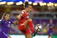Orlando, FL - Tuesday August 08, 2017: Mallory Pugh during a regular season National Women's Soccer League (NWSL) match between the Orlando Pride and the Washington Spirit at Orlando City Stadium.