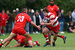 NELSON, NEW ZEALAND - APRIL 14: Div 1 Rugby Waimea v Stoke on April 14 2018 Jubilee Park in Nelson, New Zealand. (Photo by: Evan Barnes Shuttersport Limited)