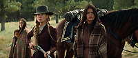 Hostiles (2017) <br /> Rosamund Pike and Tanaya Beatty <br /> *Filmstill - Editorial Use Only*<br /> CAP/KFS<br /> Image supplied by Capital Pictures