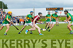 Bryan Murphy Causeway in action against Brian McAuliffe Lixnaw during the Kerry County Hurling final between Causeway and Lixnaw at Austin Stack park on Sunday