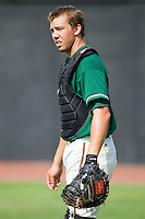 Kyle Skipworth #11 of the Greensboro Grasshoppers at  L.P. Frans Stadium July 10, 2010, in Hickory, North Carolina.  Photo by Brian Westerholt / Four Seam Images
