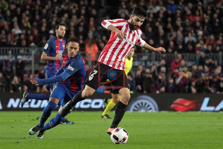 Copa del Rey 2016/2017 - 1/8 final vuelta.<br /> FC Barcelona vs Athletic Club: 3-1.<br /> Neymar vs Boveda.