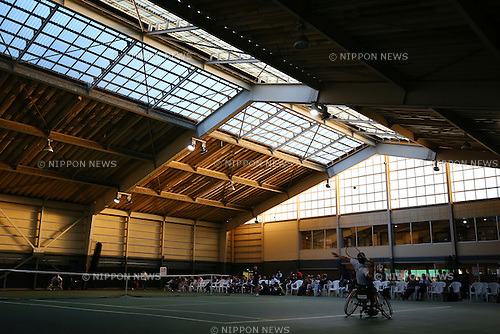 Satoshi Saita, NOVEMBER 15, 2015 - WheelChair Tennis : All-Japan Wheelchair Tennis Masters Men's Singles Final at Tennis Traning Center in Chiba, Japan. (Photo by Shingo Ito/AFLO SPORT)