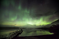 A Kp7 geomagnetic storm over Glacier National Park. One of the best displays of Northern lights in Montana I've ever seen!