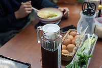 Self-serve seasoning at Hinode.