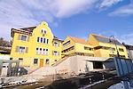 Hochstativaufnahme des neuen Gemeindehausanbaues von Mauren, Liechtenstein..Foto: Paul Trummer, Mauren, Liechtenstein