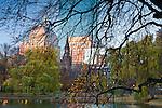 Fall foliage in Boston Public Garden, Boston, MA, USA